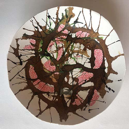 Bacteria Growth Petri Dish Drawing Thumbnail