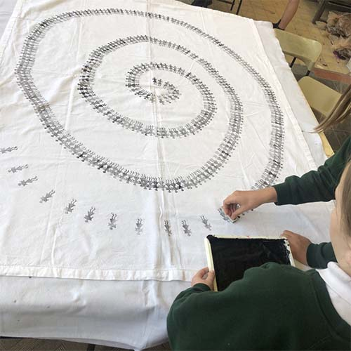 Warli Tablecloth for Awards Day! Thumbnail